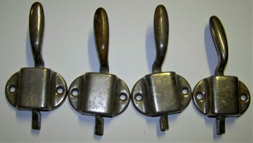 4 Original Brass/Nickel Hoosier or Icebox Latches LH & RH