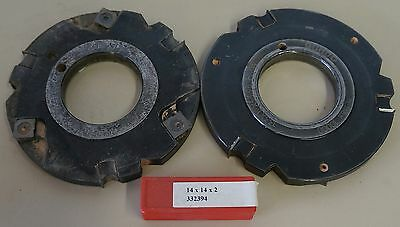 2pc Guhdo 10000rpm Carbide Moulder Insert Tooling Cutter Head
