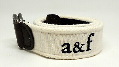 Abercrombie & Fitch Mens Cloth Belt A&F Moose Logo 33""