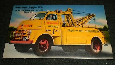 Dodge Wrecker Truck, Hoffman Brothers, Jasper, Indiana Vintage Postcard