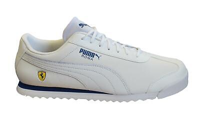 Puma x Scuderia Ferrari Roma White Mens Trainers Lace Up Shoes 306083 11