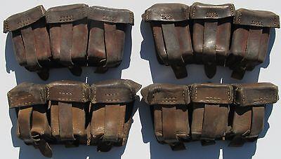 Original Mauser Leather Ammo Pouch WW1, WW2, Brown Leather.