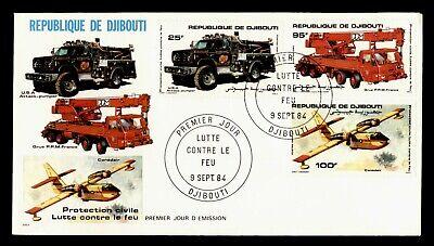 DR WHO 1984 DJIBOUTI FDC FIRE PREVENTION  C243323