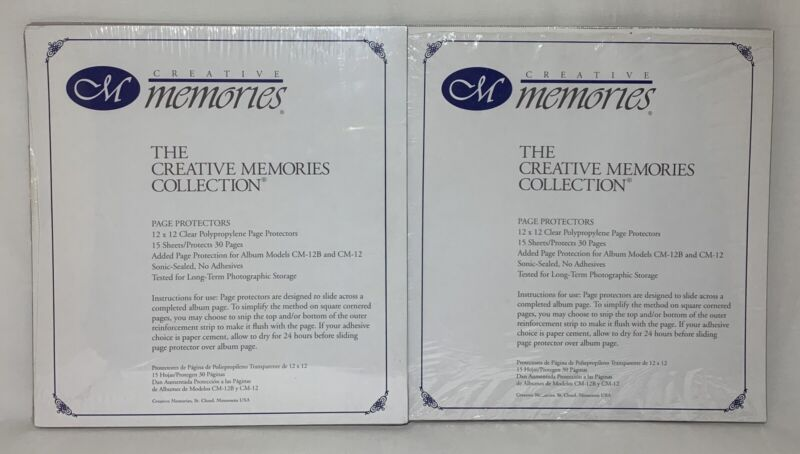 28 Creative Memories 12x12 Page Protectors Old Style, 15 Sheets Sealed plus 13