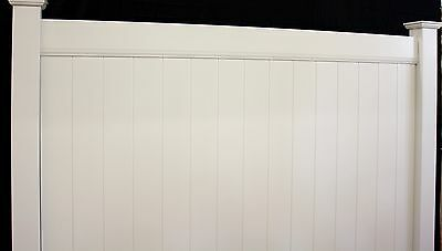 6' x 8' White PVC Solid Privacy Vinyl Fence Package 104' Feet