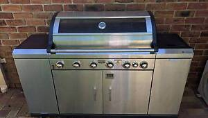STAINLESS STEEL 6 BURNER BBQ WITH COVER Barden Ridge Sutherland Area Preview