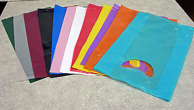 Small 7x3x12 Plastic Merchandise Shopping Bags You Pick Color Lot Qty.