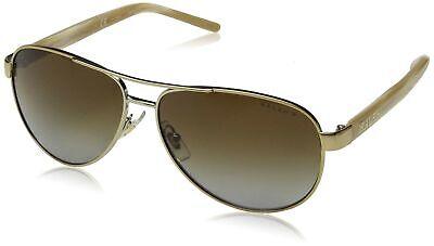 Ralph by Ralph Lauren Women's Polarized Aviator Sunglasses, Gold Cream (Ralph Lauren Women's Aviator Sunglasses Polarized)