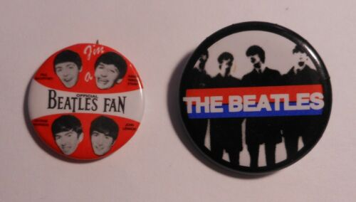 2 Vintage  Beatles 1964 Pin Back Buttons