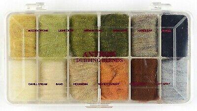 ANTRON Dubbing Blends 12 Faben Dispenser WAPSI USA ANTRON ASSORTMENT #2