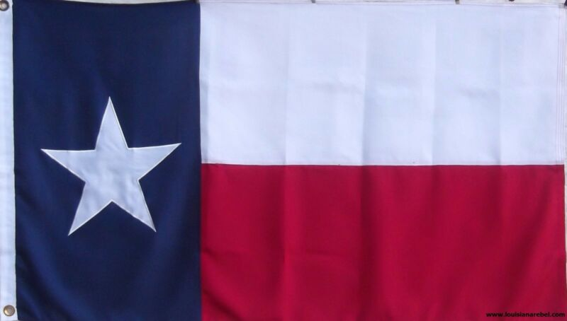 HEAVy DUTY 600D 3 X 5 TEXAS STATE FLAG - NEW SEWN LONESTAR DOUBLE SIDED