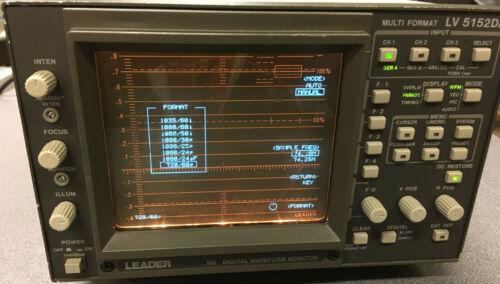 Leader LV-5152DA - HD Digital & Analog Multiformat Waveform Monitor