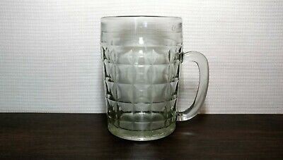 Vintage Beer Mug Glass 0,5L Cultures & Ethnicities Soviet USSR UK