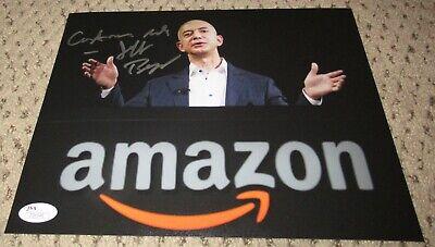 JEFF BEZOS SIGNED 8X10 PHOTO JSA AUTOGRAPH AMAZON LOA BILLIONAIRE BEEZOS RARE