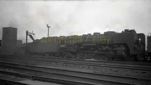 1946 NYC New York Central Locomotive #3019 @ Beacon Park - Vtg Railroad Negative