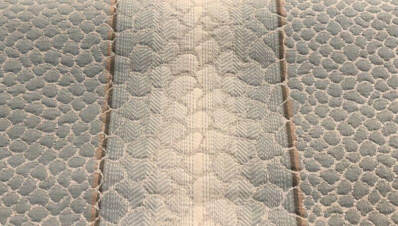 Travers Raised Animal Skin Stripe Upholstery Fabric- Salamanca / Aqua 2.60 yd