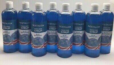 8 Nostalgia Snow Cone Syrup Blue Raspberry 16 Fl Oz. Each