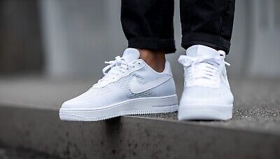 Nike Air Force 1 Flyknit 2.0 White/Pure Platinum- Size UK 8