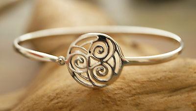 Silberarmreif 6 x 5 cm Reif Armreif Silber Triskele Keltischer Knoten Rad