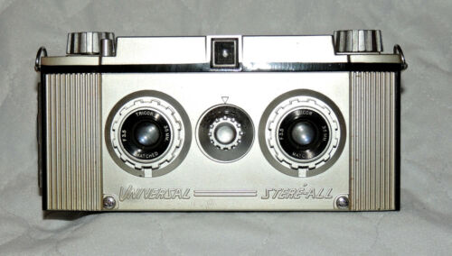 Vintage 1954 Universal Stere-All Stereo Camera and Case