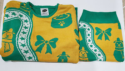Cesar Dog & Owner Matching Holiday Sweater Set, New
