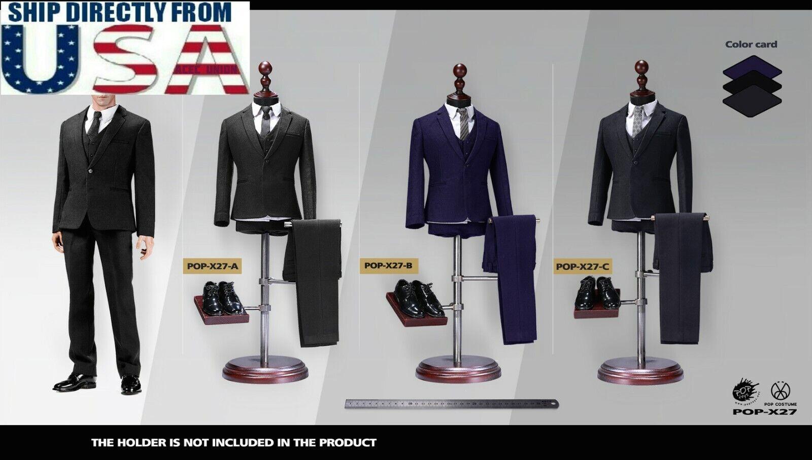 "1//6 Men Business Tuxedo Suit Set For 12/"" Hot Toys Coomodel Male Figure ❶USA❶"