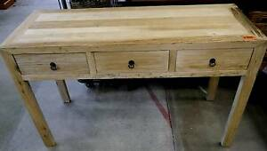 New Rustic Recycled Natural Timber 3 Drawer Console Hall Tables Melbourne CBD Melbourne City Preview