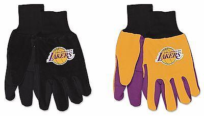 - NBA Los Angeles Lakers No Slip Gripper Utility Work Gardening Gloves NEW!