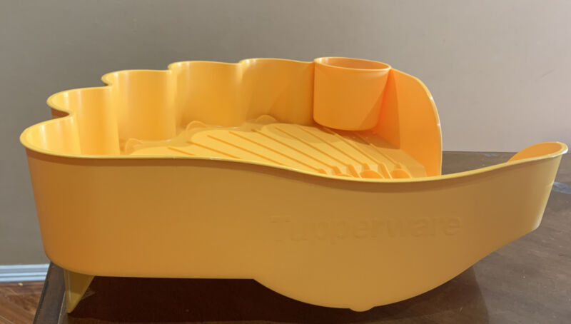 TUPPERWARE LARGE DISH EASY DRY- IN YELLOW COLOR  !!!!