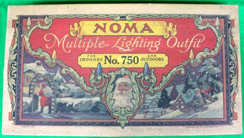 Original 1927 Noma Mazda Christmas Multiple Lighting Outfit No.750 Working