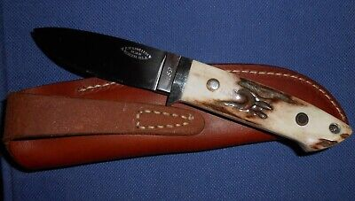 R.W. LOVELESS DESIGN BERETTA STAG ANTLER HANDLE AWESOME DROP POINT KNIFE