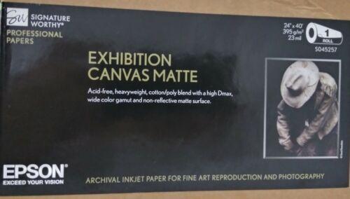 "Epson S045257 Exhibition Canvas Matte Inkjet Paper (24"" x 40"") Roll  NEW"