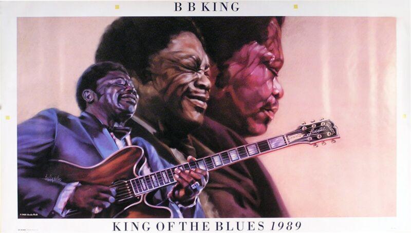 B.B. King 1989 King Of The Blues Original Promo Poster