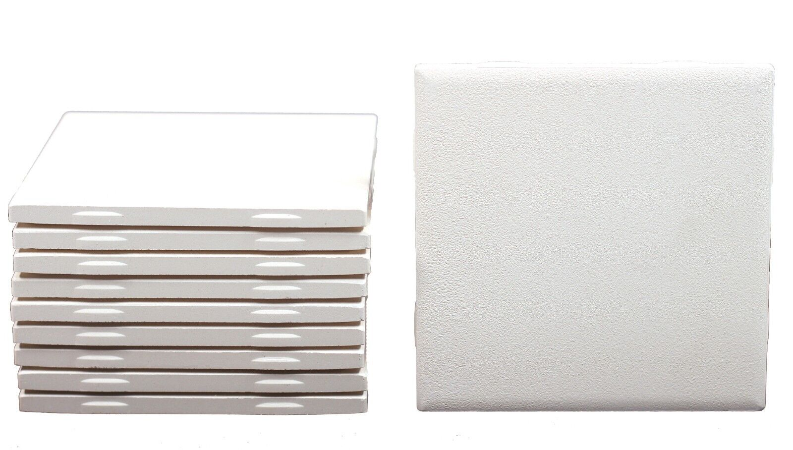 4.25″ Square Un-glazed Ceramic Bisque Tiles for Decorating -Box of 10 Tiles Ceramics & Pottery