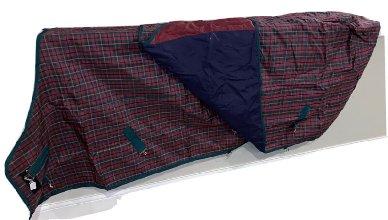 "Smartpak Plaid Lightweight Turnout Sheet Lightly Used - 82"" Set Of Two Blankets"