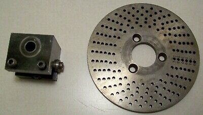 Hardinge Dividing Head Indexing Plate And Lathe Tool Holder D5