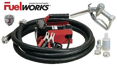 Fuelworks Electric Diesel Fuel Transfer Pump Kit 12 Volts 10gpm No Gasoline