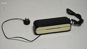 Telefono fisso da parete master vintage design bianco nero plastic phone 0rl ebay - Telefono fisso design ...