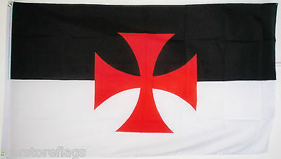 KNIGHTS TEMPLAR FLAG black top red cross CHRISTIANITY FLAGS Crusades ENGLAND