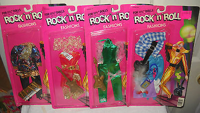 "#9361 NRFC Vintage Totsy 4 Rock N Roll 11 1/2"" Fashion Doll Clothes Outfits"