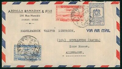 Mayfairstamps Middle East 1950s to Germany Russia Zone Airmail Cover wwo89259