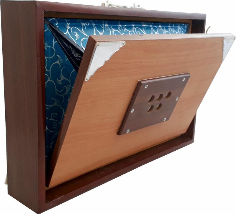 Atlas Indian SHRUTI BOX, Female Voice. Teakwood, side bellows. From Hobgoblin