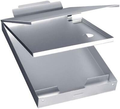 Metal Clipboard Case With Storage Box Aluminum Form Holder Self-Locking Business