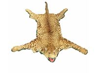 RARE & SPECTACULAR AUTHENTIC TAXIDERMY ANTIQUE LEOPARD SKIN RUG INTERIOR DESIGNER PIECE MADE IN 1900
