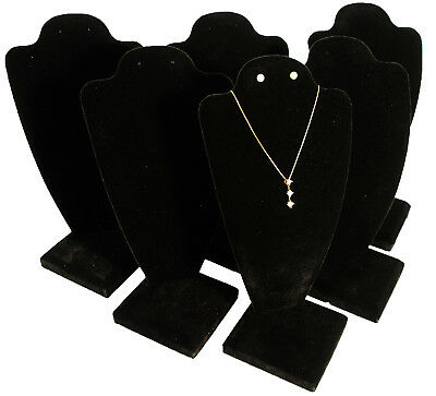 6 Black Velvet Necklace Earring Jewelry Display 10