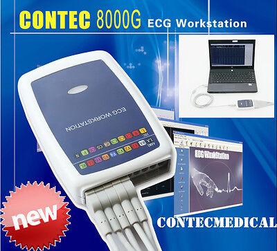 Contec8000g 12-lead Ecgekg Workstation Analysis Machine System Sync Pc Software