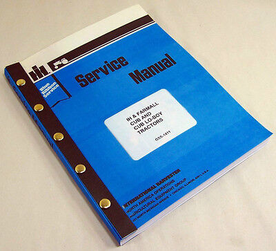 International Farmall Cub Cub Lo-boy Tractor Shop Service Repair Manual Ih Ihc