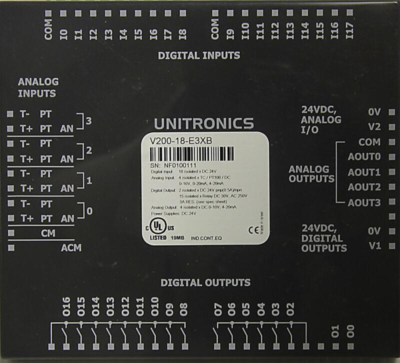 V200-18-E5B UNITRONICS SNAP-IN I/O MODULE