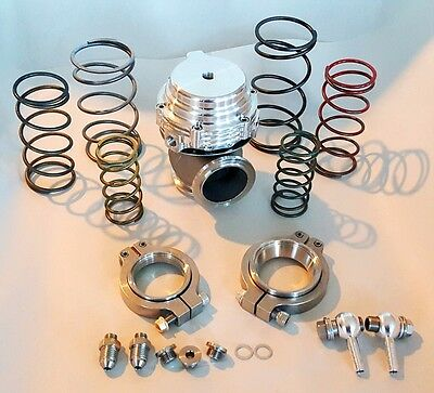 TIAL WASTEGATE MVS MV S 38MM V BAND EXTERNAL 03 TO 17BAR ALL SPRINGS SILVER