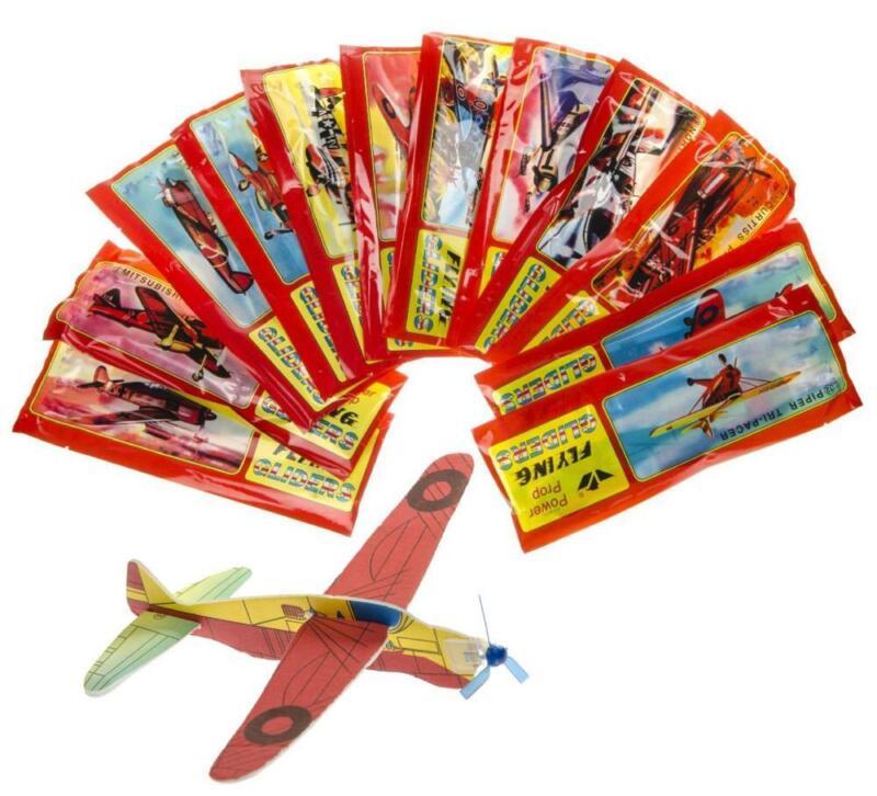 12x Gleitflieger Styropor Wurfgleiter Wurf Flugzeug Mitgebsel Styroporflieger